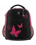 Kuprinė pradinukams KITE 35x26x13,5cm juoda su rožinės sp. detalėmis