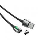 Kabelis Baseus Zinc USB2.0 A kištukas -  micro USB su magnetine jungtimi, 1 m, juodas