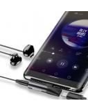 Adapteris Baseus USB C kištukas - 3.5 mm stereo lizdas, su krovimo galimybe, sidabrinis/juodas