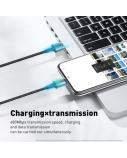 Kabelis Baseus Zinc USB2.0 A kištukas -  USB C su magnetine jungtimi, 1 m, juodas