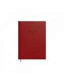 Darbo knyga INFO A5 kietais viršeliais, raudonos spalvos