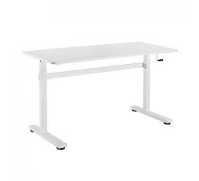 Reguliuojamo aukščio mechaninis stalas Up UP, baltu rėmu,reguliuojamas aukštis, 2-sekcijų, baltas stalviršis 1400 x 600mm