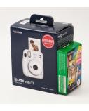 Fujifilm Instax Mini 11 Camera + Instax Mini Glossy (10pl) Focus 0.3 m - ∞, Ice White