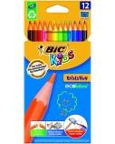 BIC Spalvoti pieštukai KIDS EVOLUTION 12 spalvų rinkinys 8290291