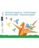 Popierius, spalvotas SMLT, A4, 80 g, vienpusis, klijuotas, (8)  0708-301