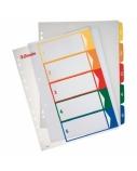 Skiriamieji lapai Esselte Project, A4, 1-5 spalvos, plastikiniai  0807-116