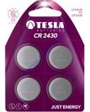 Baterija Tesla CR2430 Lithium 270 mAh 4 vnt.