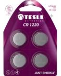 Baterija Tesla CR1220 Lithium 38 mAh 4 vnt.