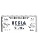 Baterija Tesla AA Silver+ Alkaline LR06 2600 mAh 24 vnt.