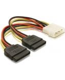 DELOCK Adapt Power SATA HDD2x4Pin-St10cm