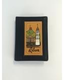 Užrašų knygelė 11 x 8 cm, Lietuva, juoda, odinė  1614-054