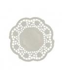 Servetėlės po puodeliu, ? 10cm, baltos, karpytos (250)  1804-229