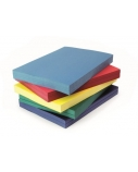 Įrišimo viršeliai Delta Lux A4, 250g/m², kartoniniai, geltoni (100 vnt.)  0508-116