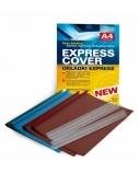 Įrišimo rinkinys Express A4, aplankas ir apkabėlė, 9.5 mm, mėlynas (8 vnt.)  0508-704