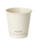 Duni vienkartiniai Ecoecho™ puodeliai kavai 120 ml, natūralios spalvos, Bagasse, max +100°C, (50 vnt x 24 vnt.)
