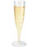 Duni Vienkartinės taurės šampanui 135 (100) ml, skaidrios spalvos, PS, max +100°C, (10 vnt x 10 vnt.)