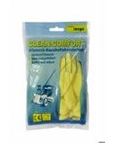 Latekso pirštinės Clean Comfort, geltonos, L dydis, 1 pora