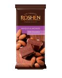 Pieniškas šokoladas su migdolais Roshen, 21 pak. po 90g