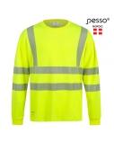 Marškinėliai ilgomis rankovėmis PESSO Hi-vis, geltoni, M dydis