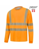 Marškinėliai ilgomis rankovėmis PESSO Hi-vis,oranžiniai, 4XL dydis