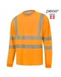 Marškinėliai ilgomis rankovėmis PESSO Hi-vis,oranžiniai, S dydis