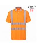 Polo marškinėliai PESSO Hi-vis, oranžiniai, L dydis