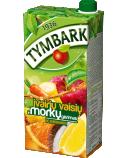 Įvairių vaisių ir morkų nektaras 20%, Tymbark, 6 pak. po 2 L