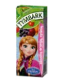 """Obuolių, aronijų, vyšnių ir žemuogių gėrimas 20%, """"TYMBARK"""", 27 pak. po 200 ml"""