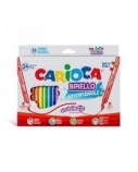 Flomasteriai Carioca Birello, dvipusiai, 24 spalvos